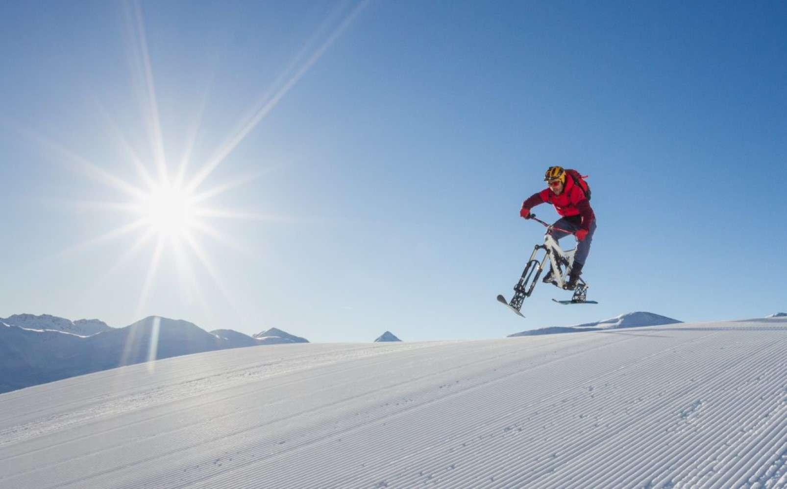 Snow bike Livigno