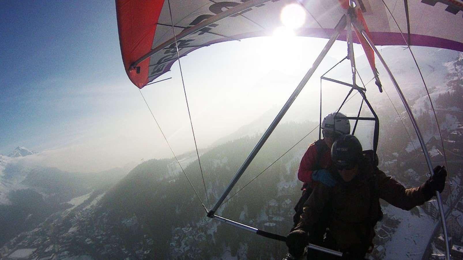 Deltaplano hangglider St Moritz tandem flight