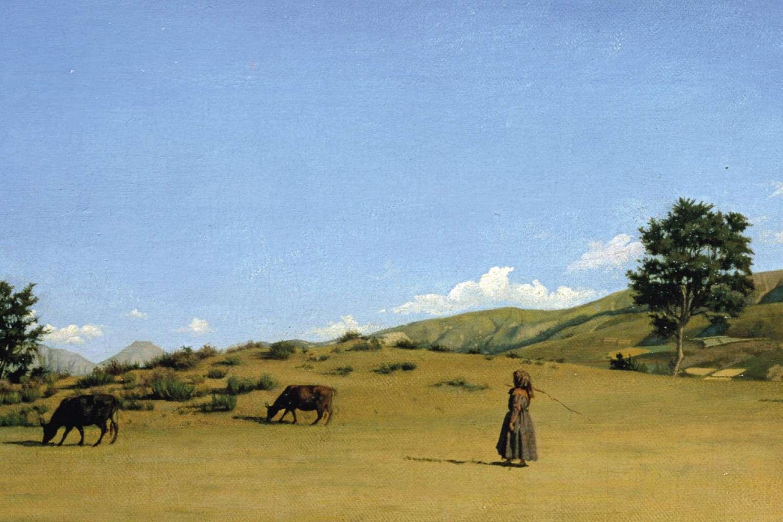 Raffaello Sernesi - Pastura in montagna