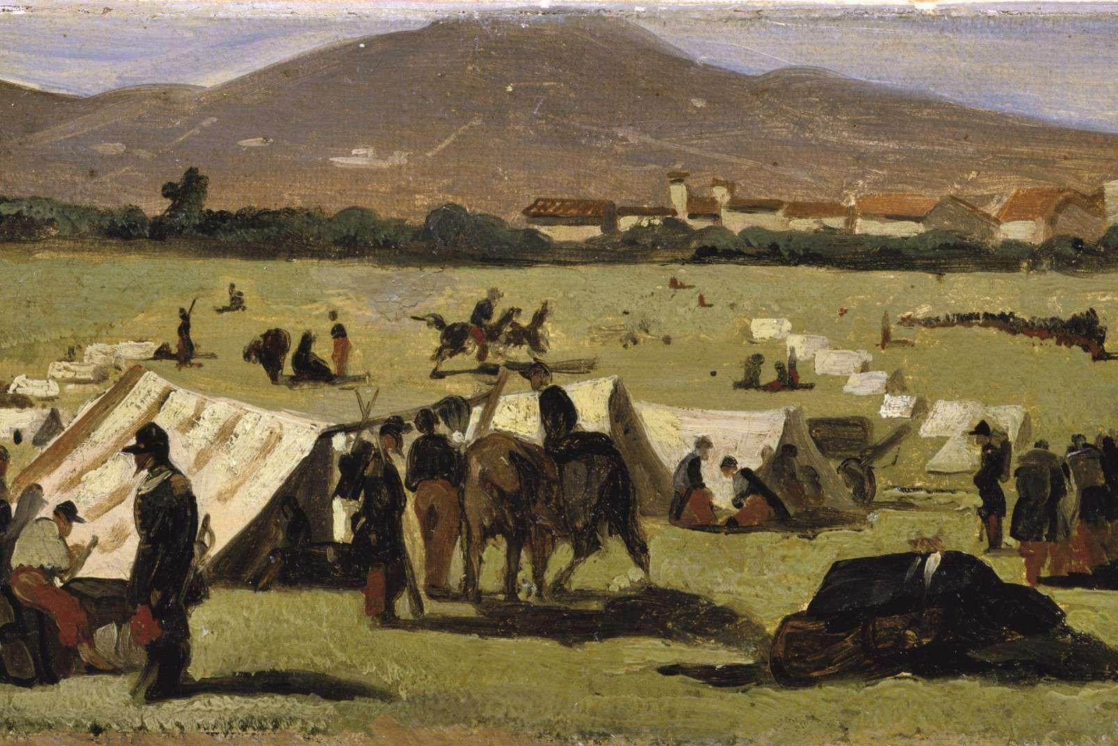 Giovanni Fattori (1825 - 1908) - Soldati francesi alle Cascine