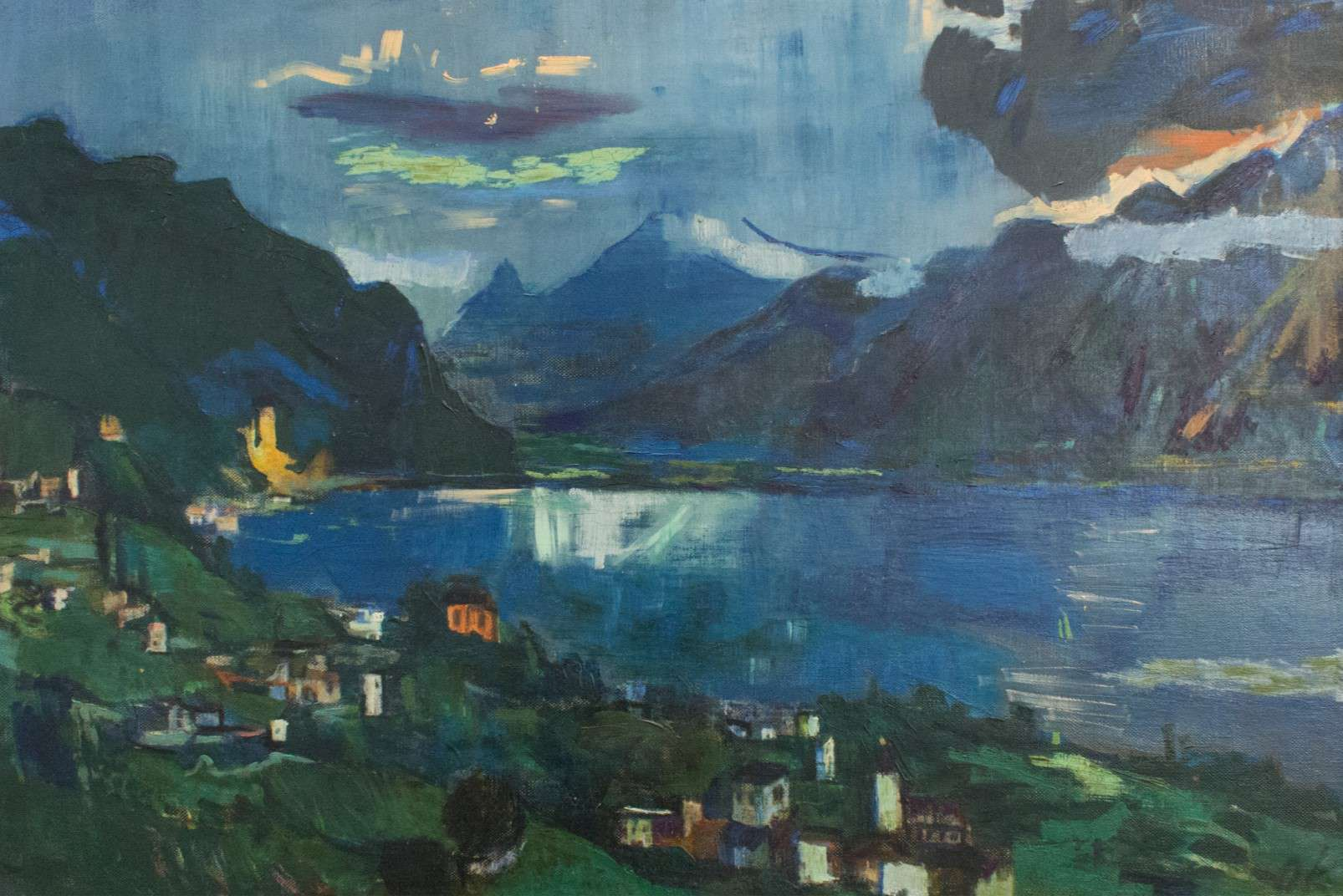 Oskar Kokoschka, -1924, Genfer-See II - Ulm