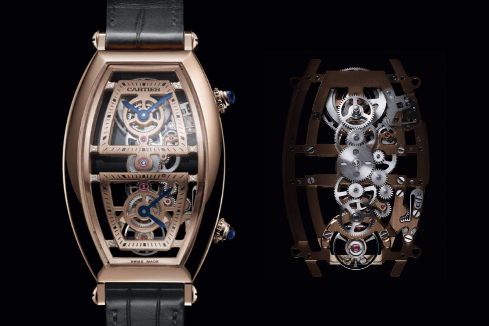 Cartier Privé Tonneau XL Skeleton Dual Time - SIHH 2019
