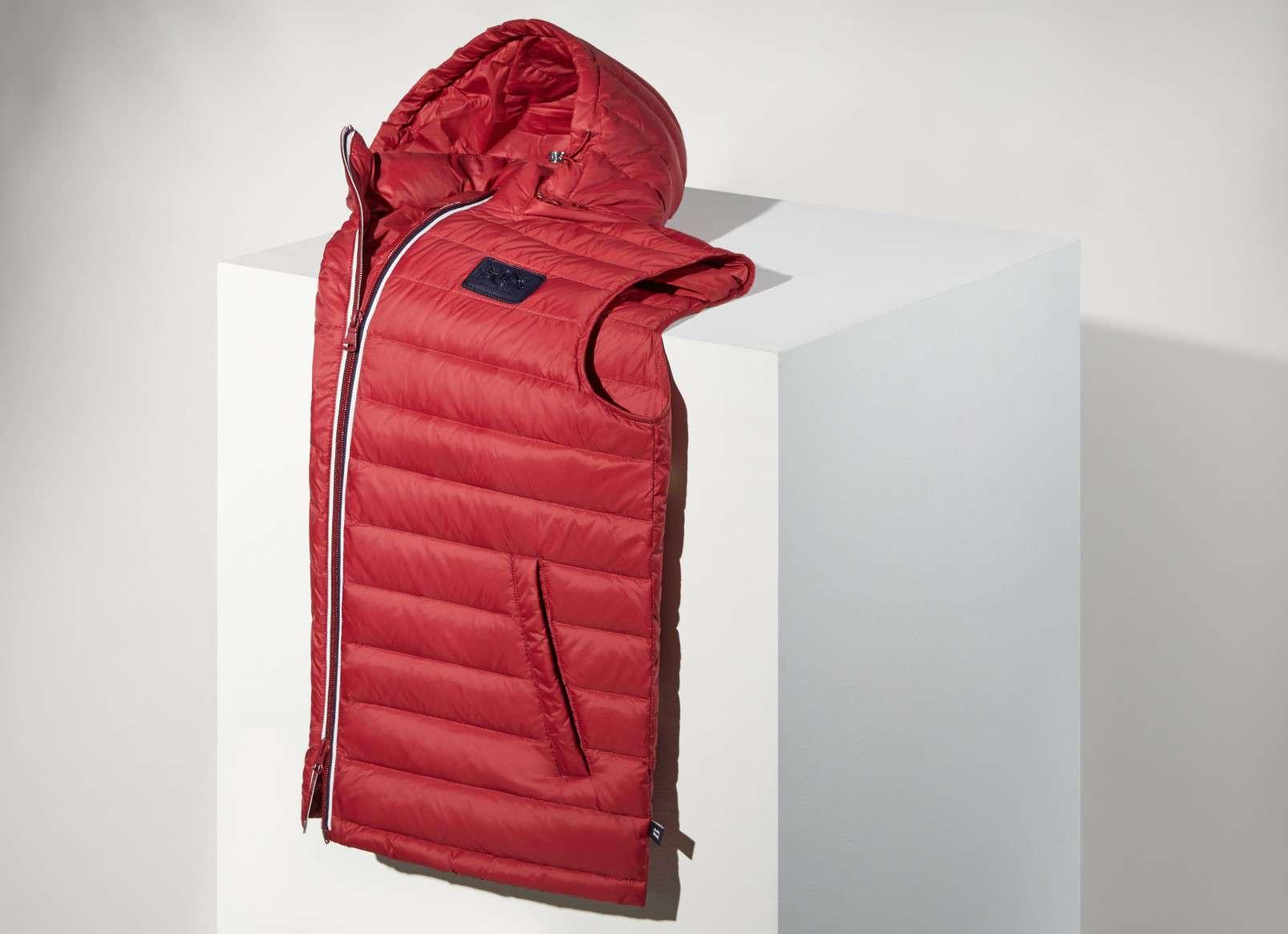Quilted goosedown vest