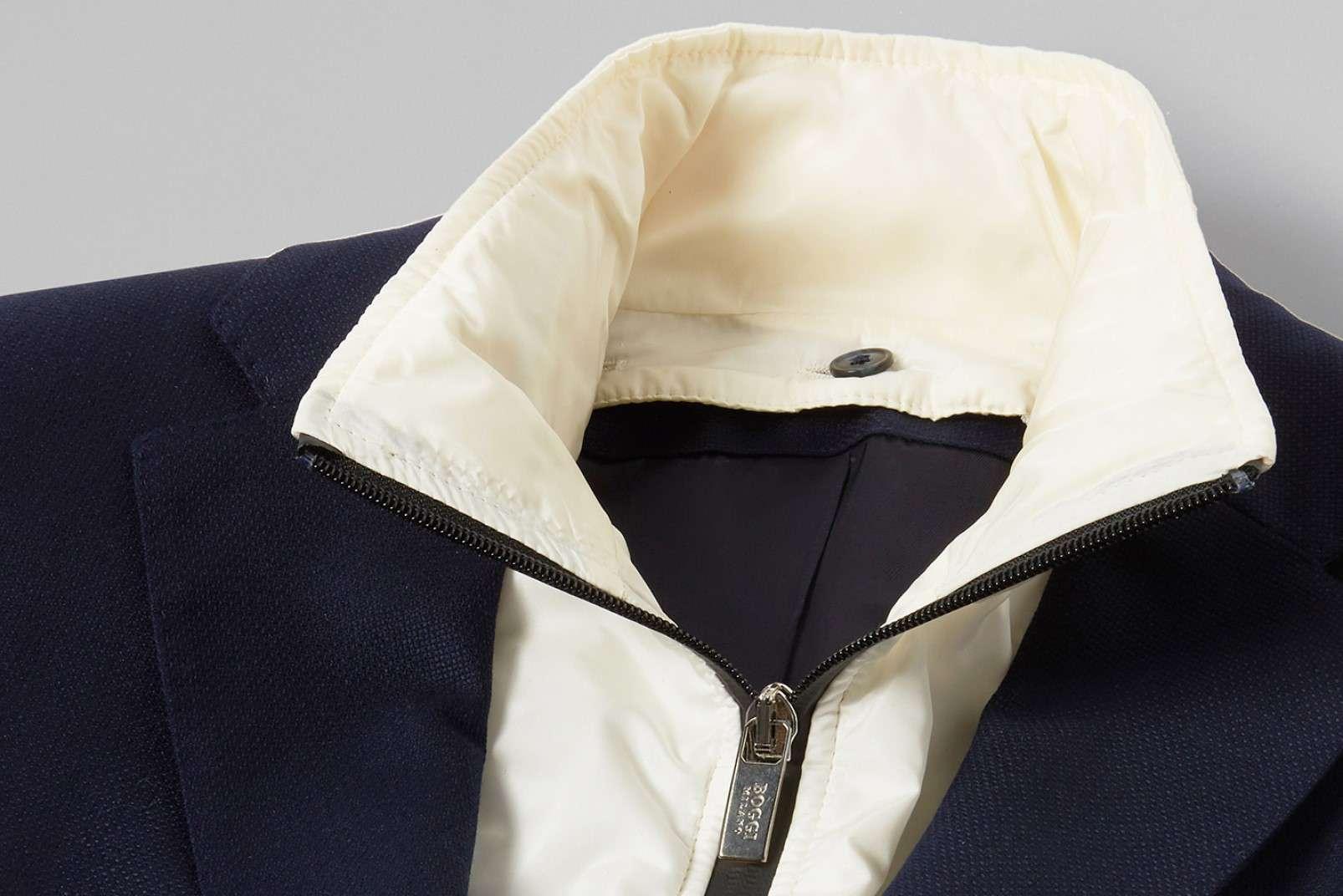 Blazer with zip-away bib and hood BO19P068602