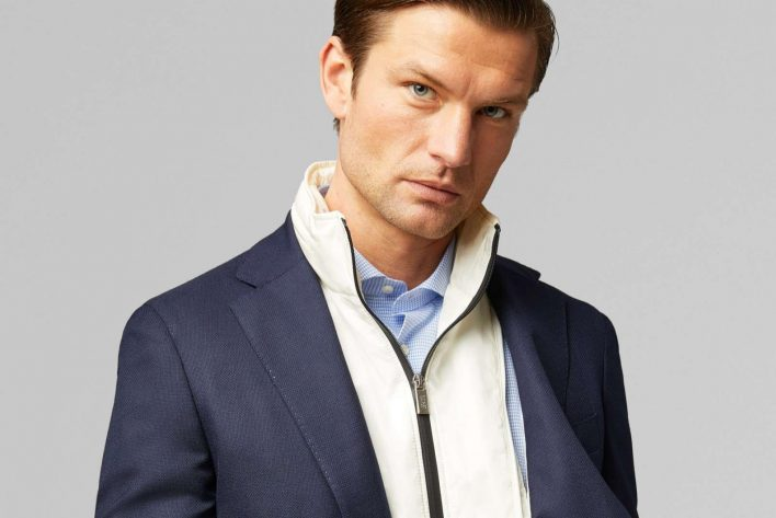 Blazer with zip-away bib and hood BO19P068602
