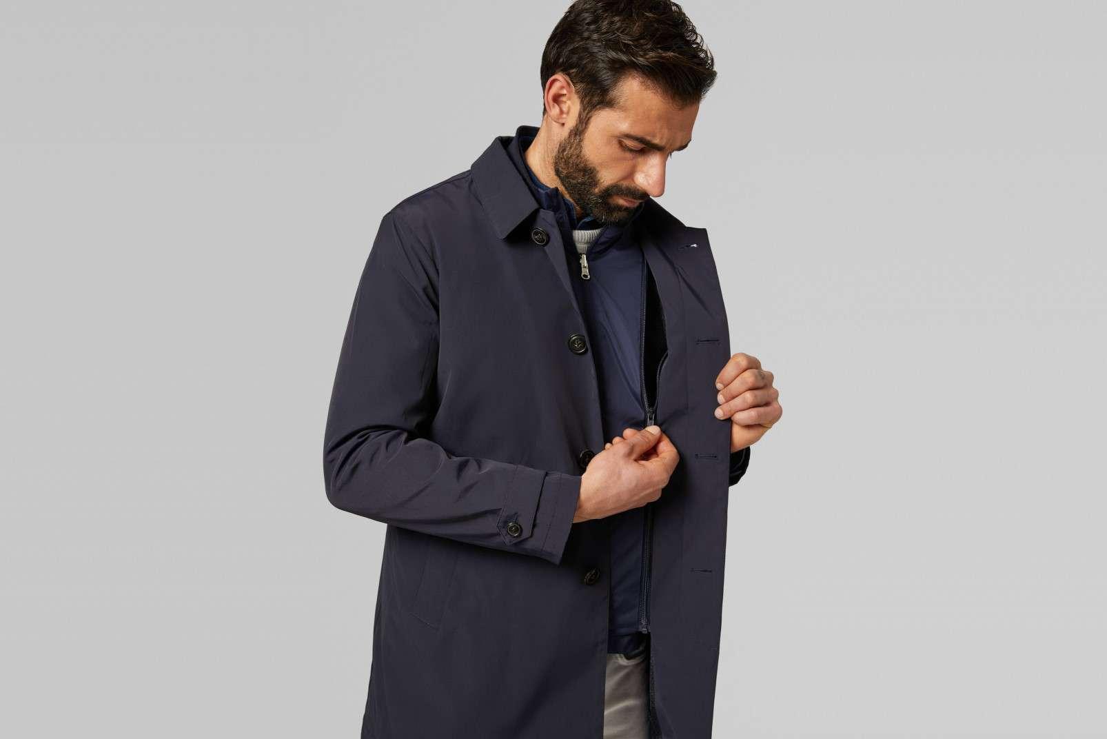 BO19P071201 Boggi Milano Travel Raincoat-W1606