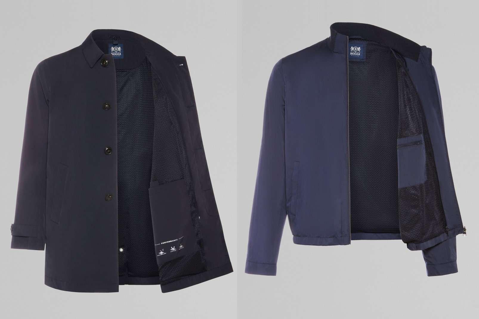 BO19P071201 Boggi Milano Travel Raincoat and internal Bomber Jacket-W1606