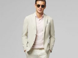 Tencel linen blend blazer BO19P075804