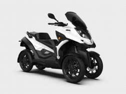Quadro e-Qooder, a 4-wheeled electric vehicle that banks like a motorbike