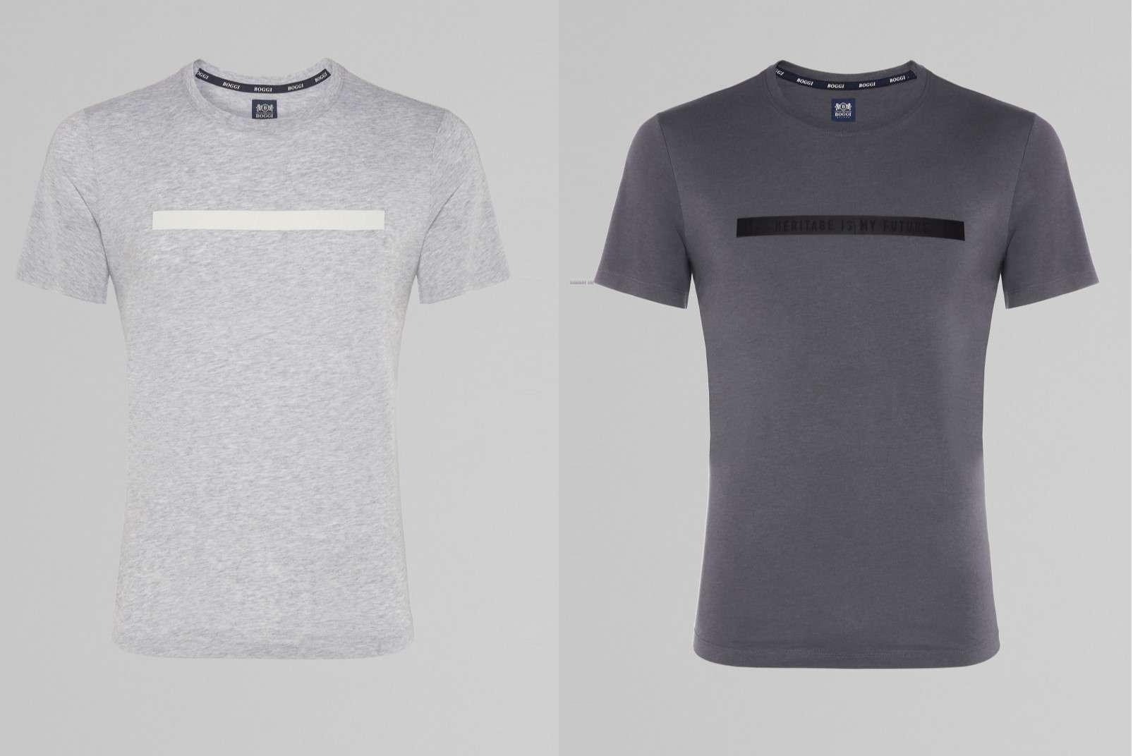 light grey and dark grey tencel t-shirts BO19P001103 BO19P001104