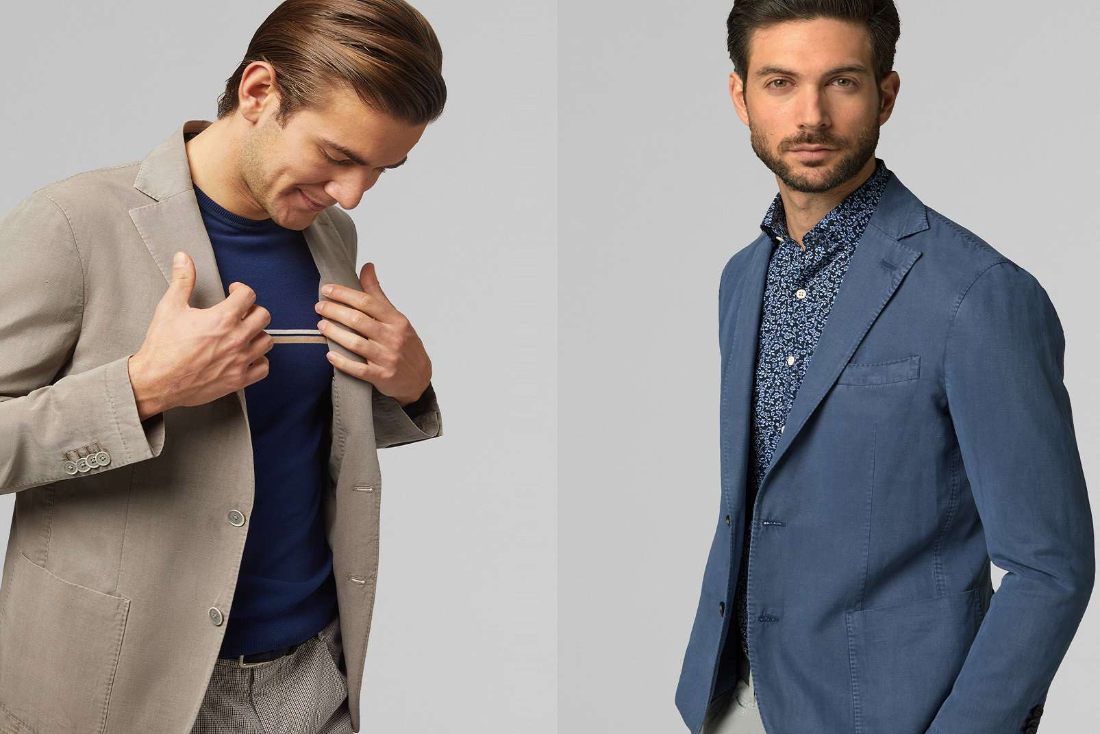 Tencel linen blend blazer BO19P075806 and BO19P075802