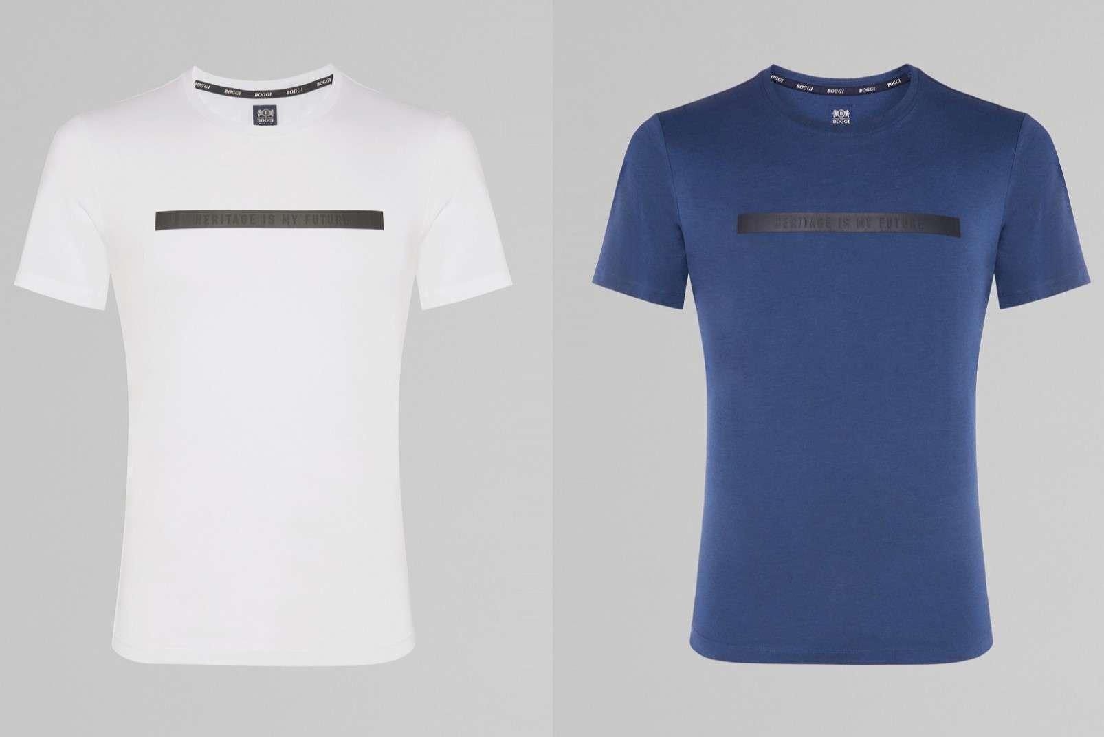 Cotton-tencel blend T-shirts, white BO19P001101 and blue BO19P001102