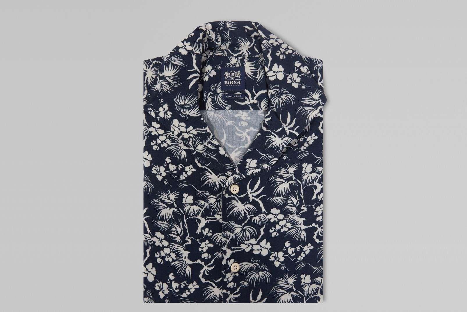 Boggi Milano floral print shirt