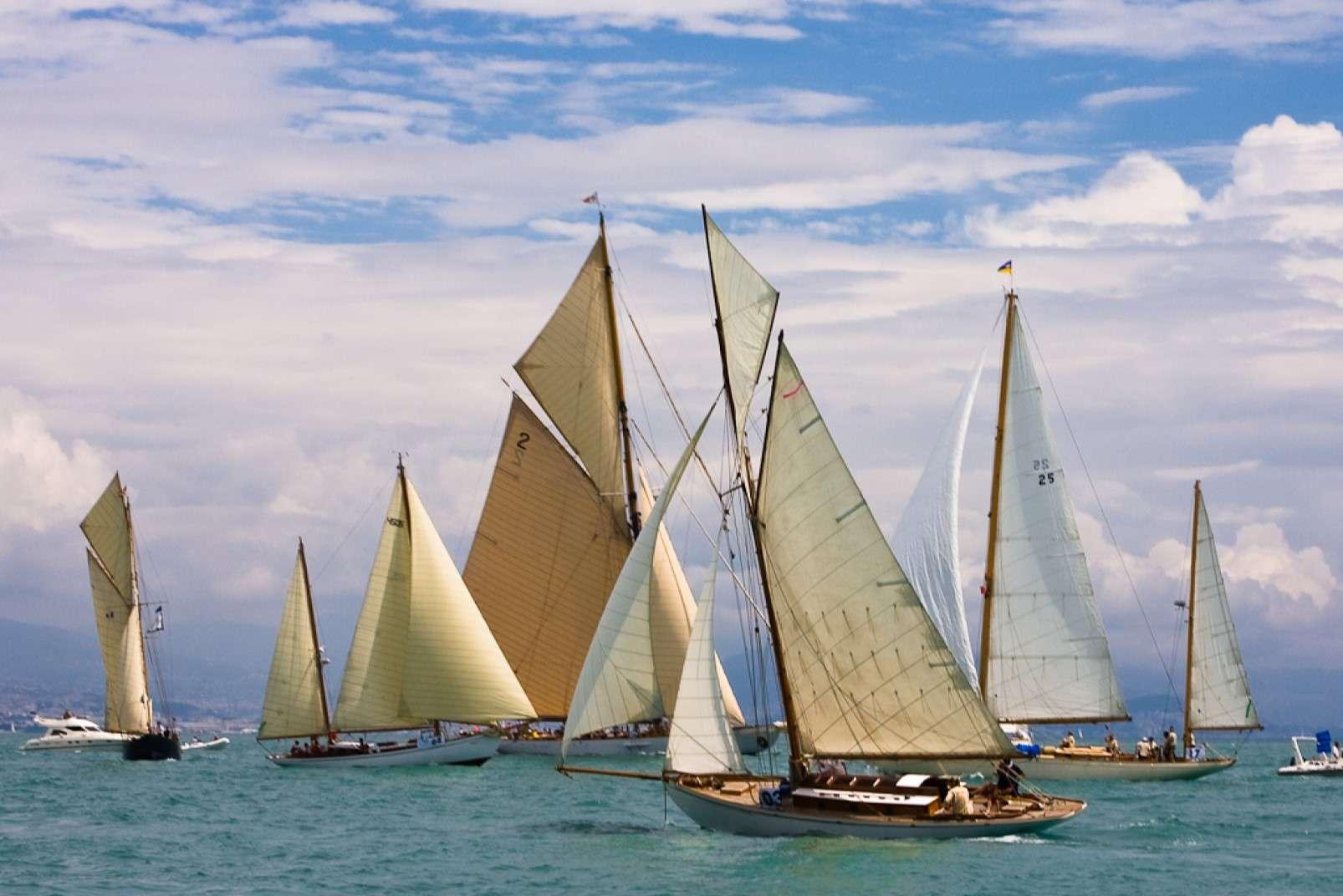 Les Voiles d'Antibes classic yacht regatta
