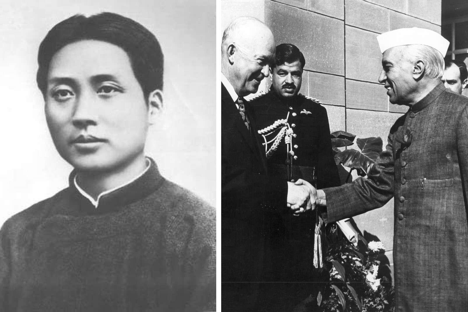 Mao Tse Tung and Jawaharlal Nehru