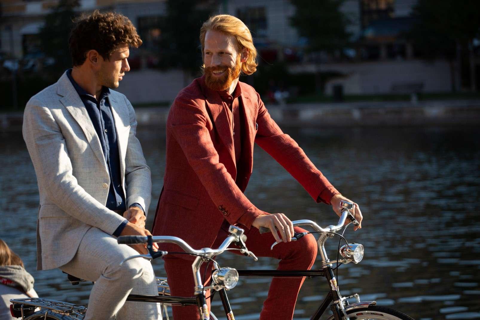 100 percent linen suits