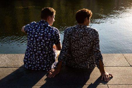 Boggi Milano floral print shirts