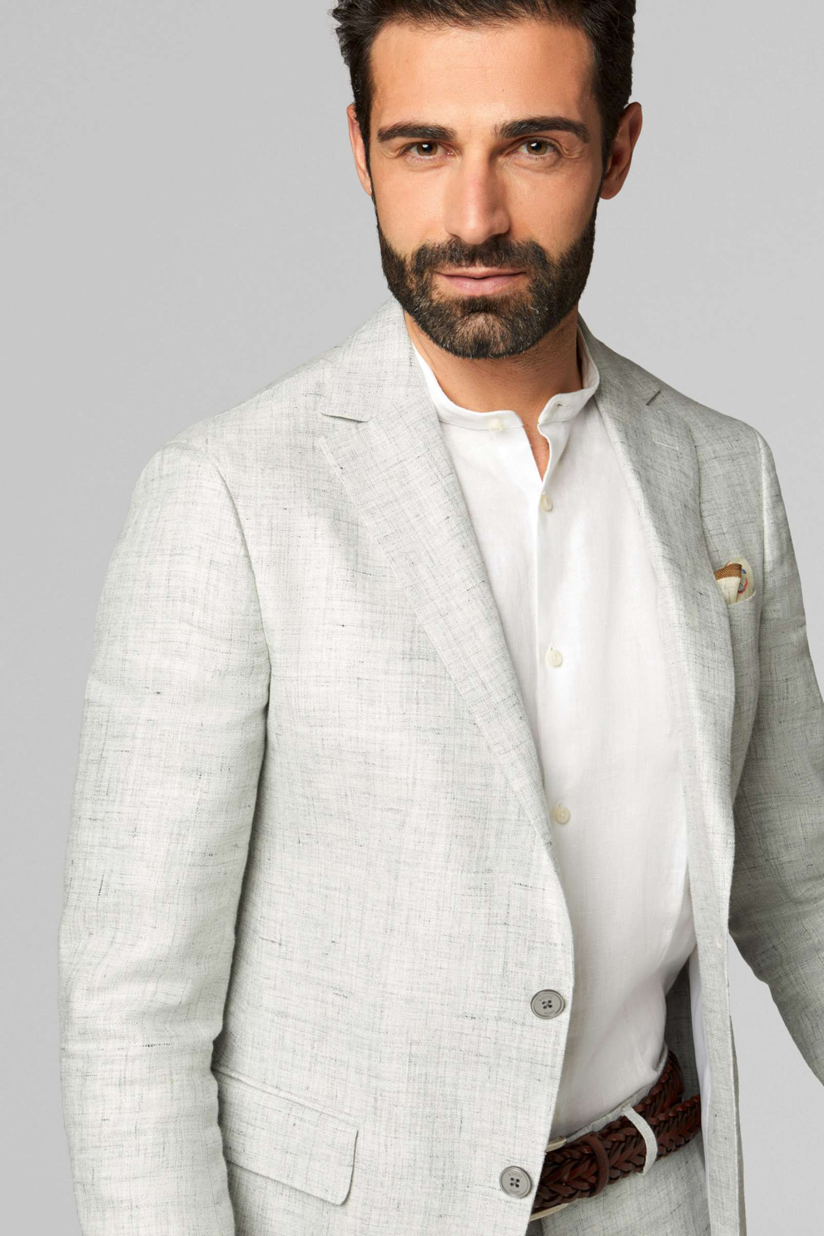 BO19P052901 light grey linen suit Boggi Milano