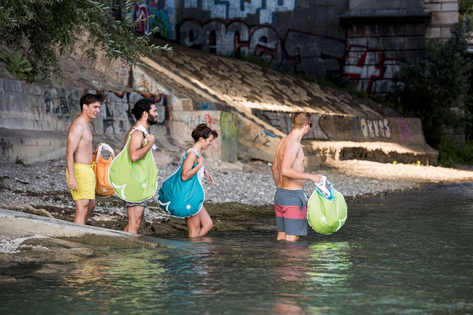 Basel swimming Rhine