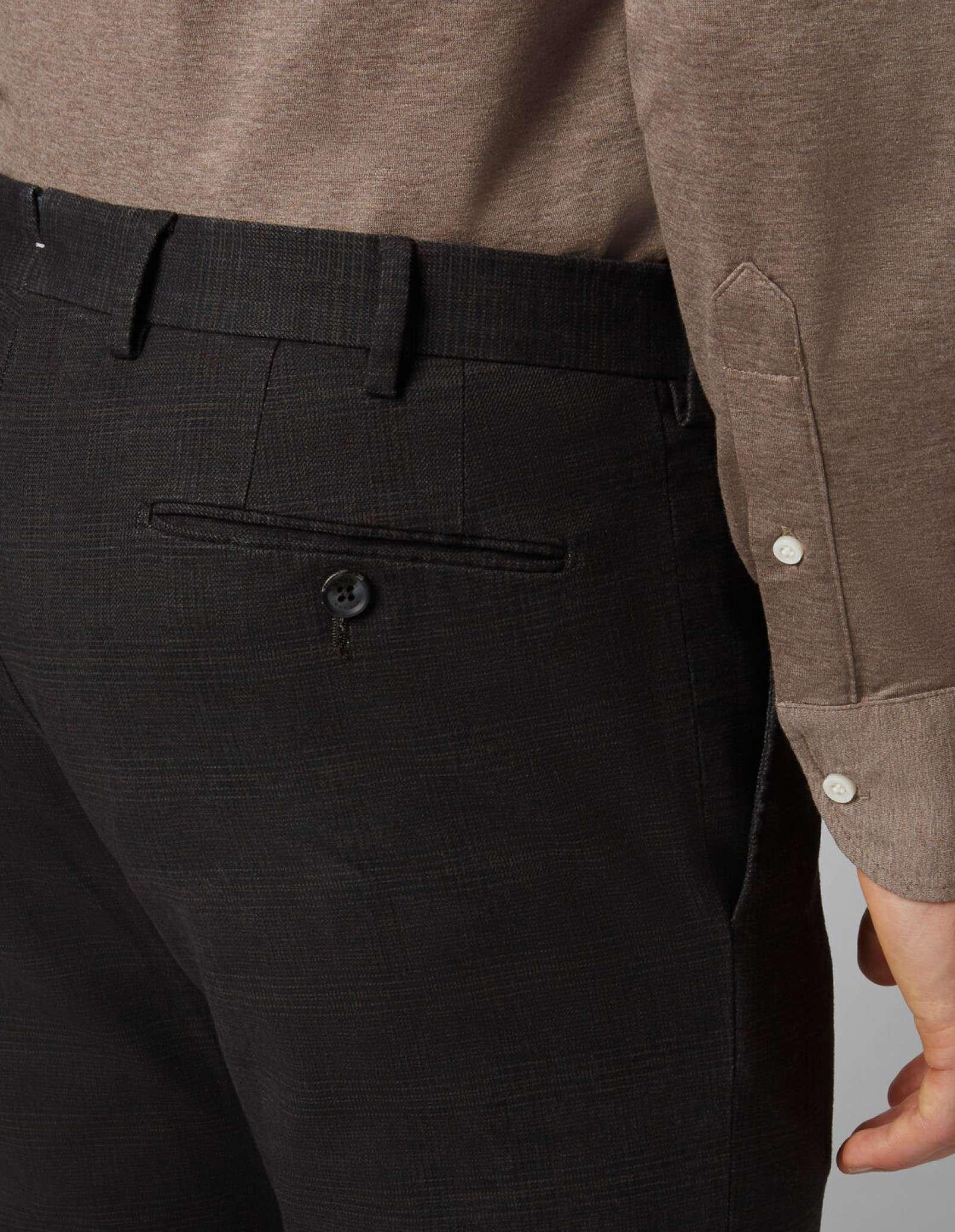 pantaloni tessuto principe di galles color scuro Boggi Milano