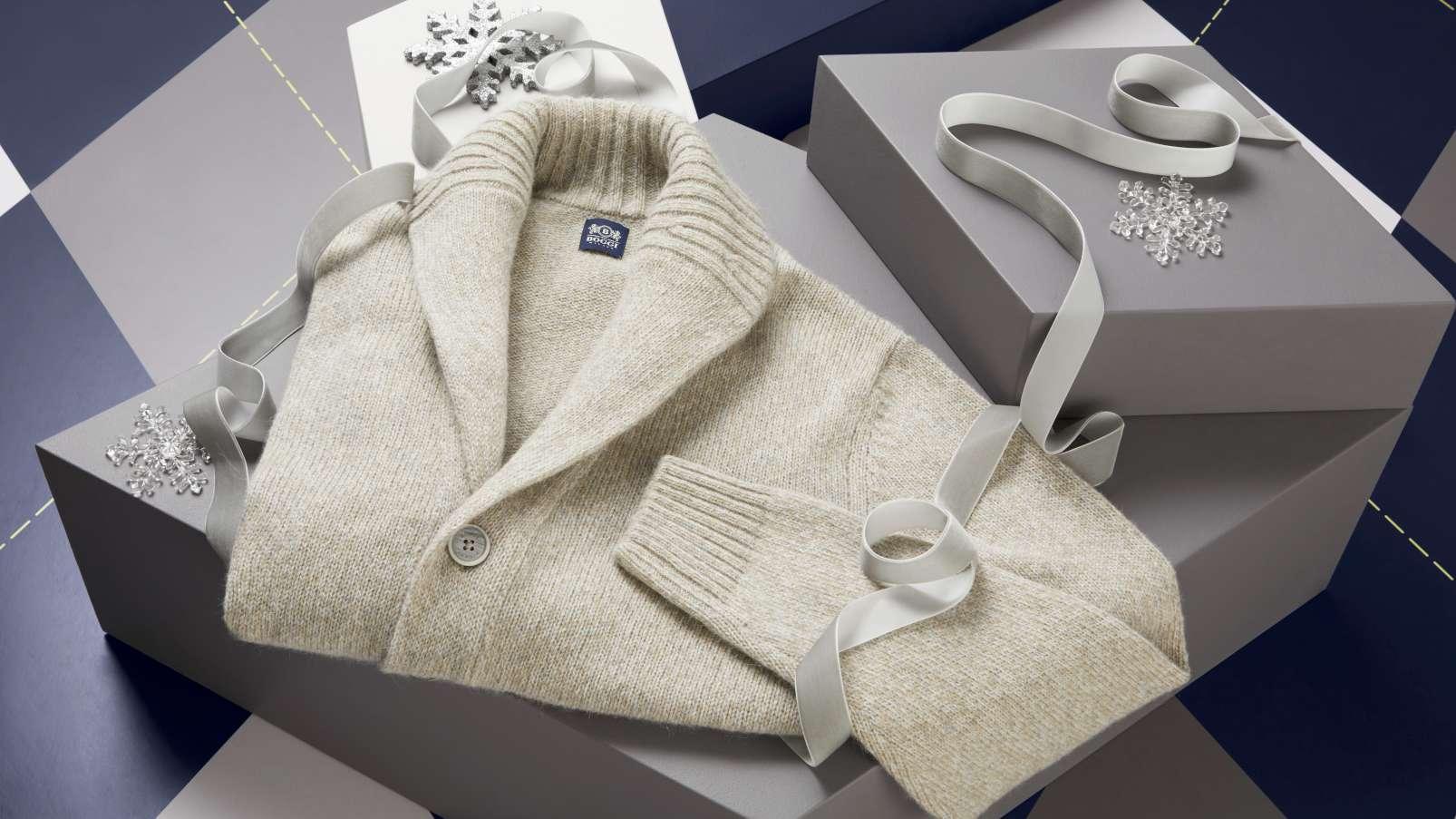 christmas gift ideas for dad cardigan Boggi Milano