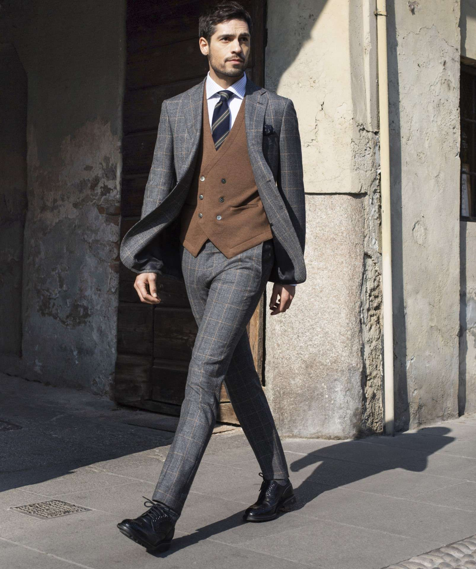 prince of wales suit glen plaid Boggi Milano